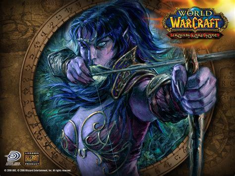 World of Warcraft hunter elves night elf wallpaper