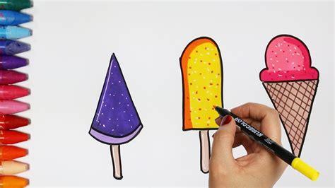 rysunek  kolorystyka lody rysunek  kolorystyka dla