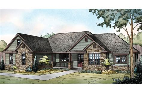 ranch houses ranch house plans manor heart 10 590 associated designs