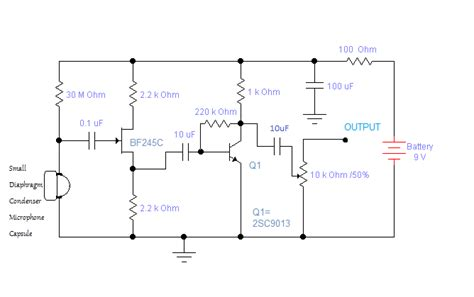 capacitor microphone circuit sam technology professionals build a studio condenser microphone diy part 1