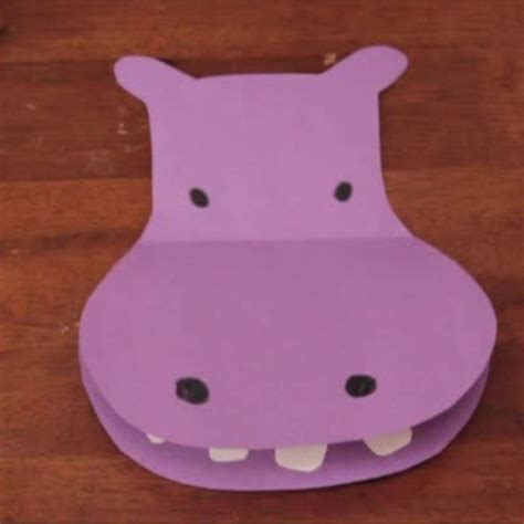 Hippo Paper Plate Craft - hippo crafts for preschoolers www pixshark images