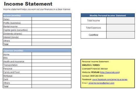 Personal Financial Statement Worksheet