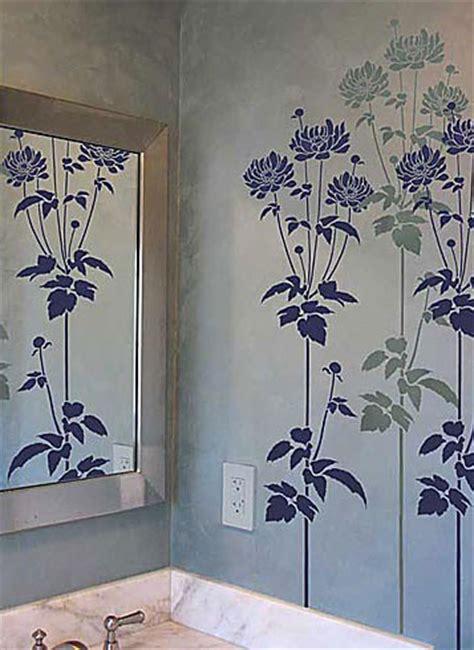 Garden Wall Stencils by Flower Stencil Large Stencil Designs For Diy Decor