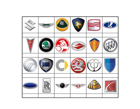 Auto Logo Tier by Game Statistics Car Logos Tier 2 Purposegames