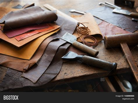 Leather Handcraft - leather craft leather working image photo bigstock