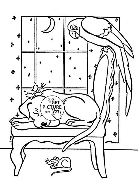 sleeping coloring page pets sleep coloring page for animal coloring pages