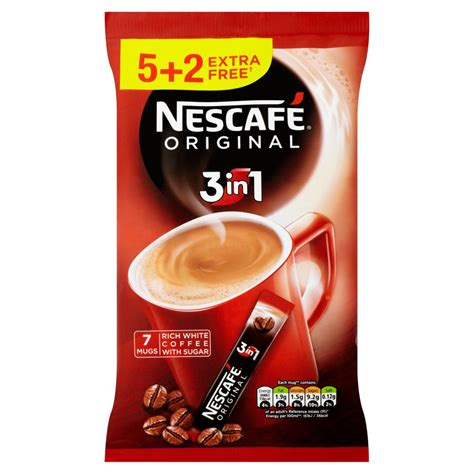 3in1 Bag nescafe original 3in1 instant coffee 7 sachets pack only 163 1 00 iceland groceries