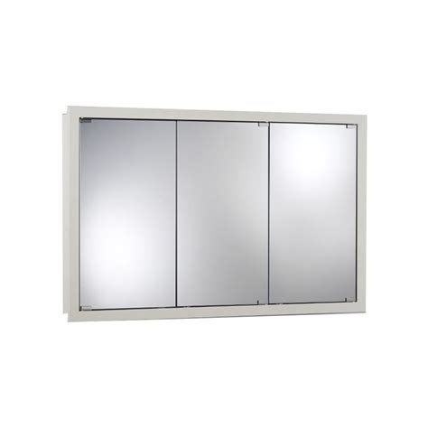 mirrorless surface mount medicine cabinet shop broan 48 in x 30 in classic white particleboard