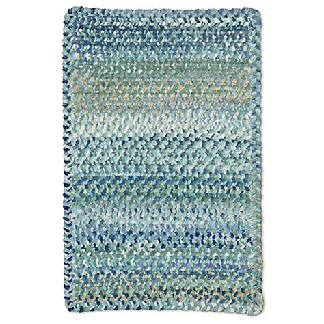 9 foot area rugs buy capel rugs ocracoke cross sewn braided 7 foot x 9 foot area rug in light blue from bed bath
