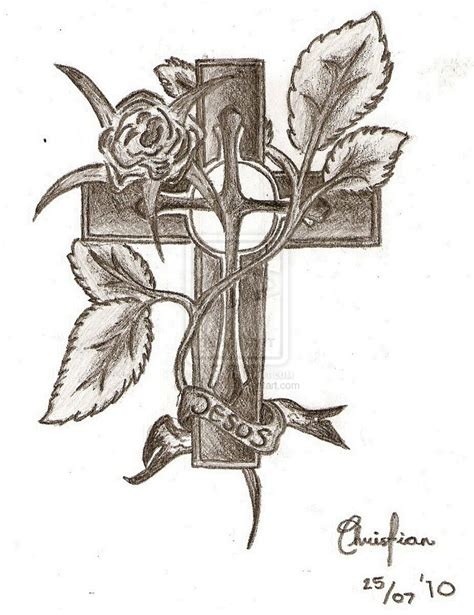 Jesus Cross Drawings Google Search Tattoos Pinterest Drawing Of Jesus On The Cross 2