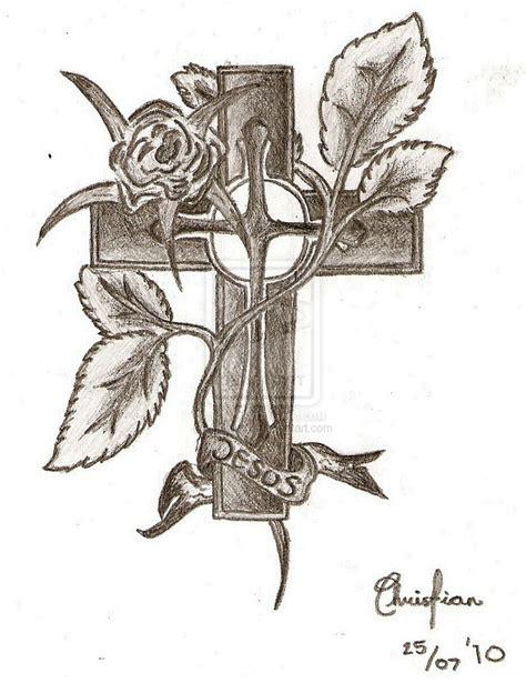 cross tattoo sketch jesus cross drawings search tattoos