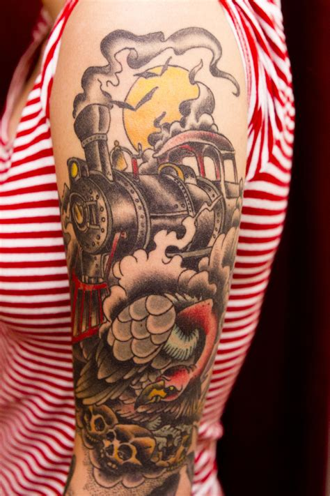 train tattoo one of these days for myy pops your