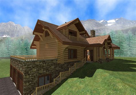 Handcrafted Log Home - log homes handcrafted log homes log home floorplans log