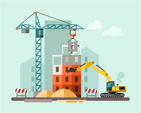 city building construction template vectors 09 vector