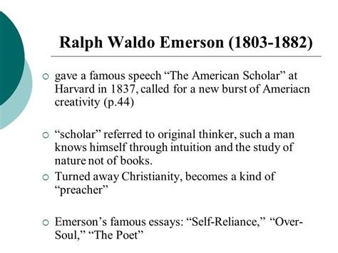 The American Scholar Analysis Essay by Chapter 4 An American Renaissance Ppt