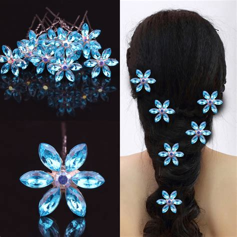 Flower Rhinestone Hair Pin 5pcs lot wedding bridal hair jewelry rhinestone