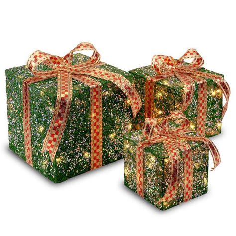 lighted gift boxes outdoor 27 best outdoor decorations lighted gift boxes