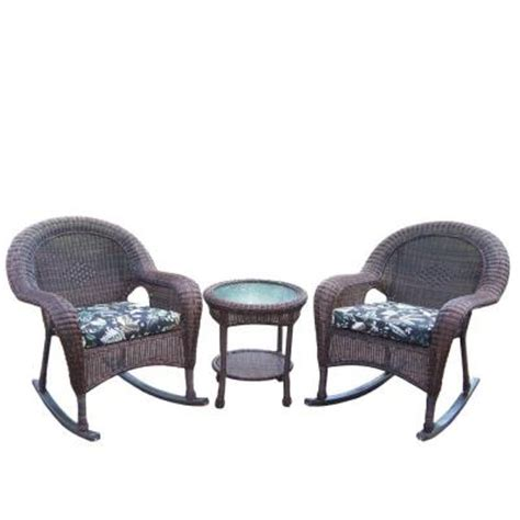 oakland living resin 3 wicker patio rocker set with