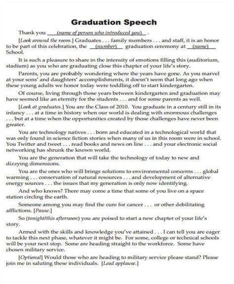 graduation speech 51 introduction speech sles pdf doc sle templates