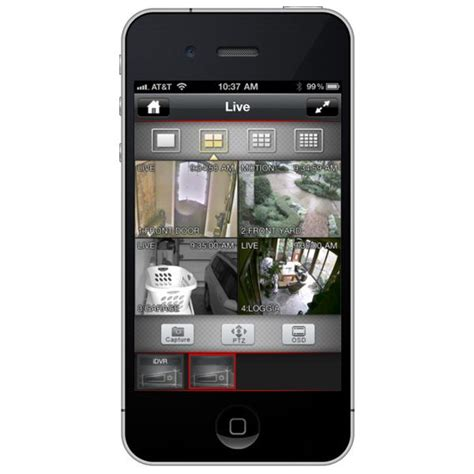 iphone cctv app enables remote dvr viewer access
