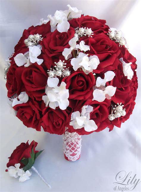 wedding bouquet jewellery 2pcs wedding bridal bouquet groom boutonniere gem