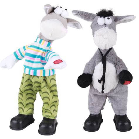 plush animals electric pets shook his head donkey singing