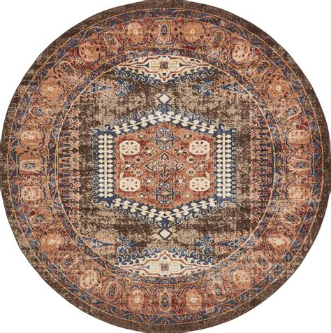 large circular rug traditional large faded design area rug small vintage style carpet
