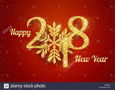 2018 happy new year background with golden glitter numbers