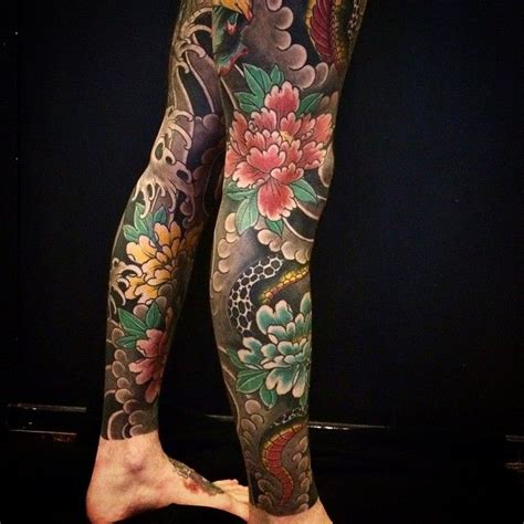 tattoo oriental pierna bonel tattooer pierna tatto pinterest tatouages