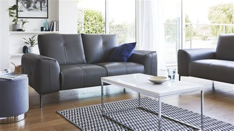 dillon leather sectional 2 seater real leather sofa dillon sofa danetti uk