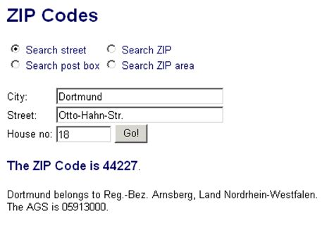 Zip Code Address Finder Help For German Zip Codes Infopool W3logistics Ag