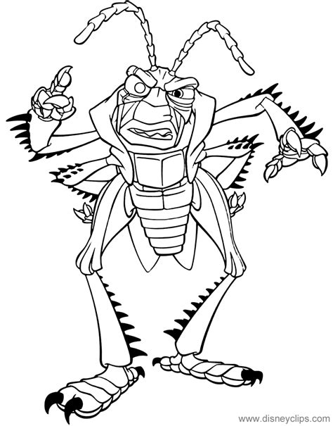 bugs life coloring pages  disneyclipscom
