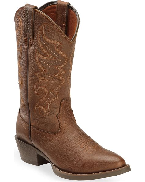 mens toe boots justin s all chocolate western boots toe