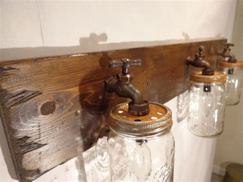 rustic bathroom fixtures mason jar vanity light fixture country primitive rustic