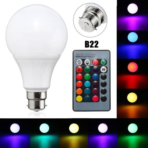 B22 10w Dimmable Rgb Color Changing Led Light L Bulb Led Light Bulb With Remote
