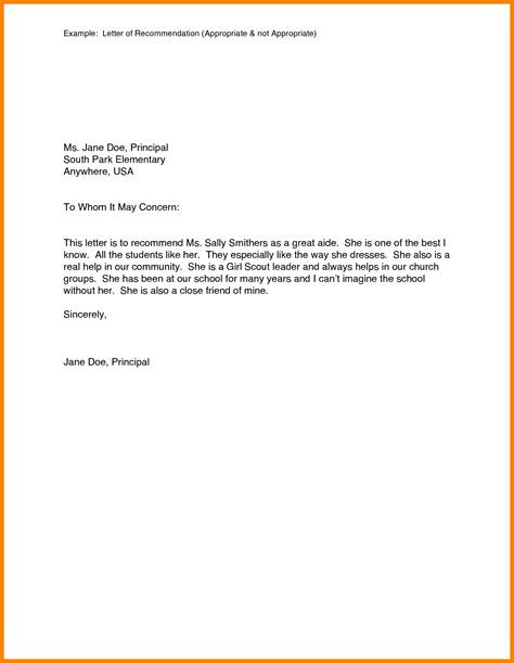 Generic Recommendation Letter Format 6 Generic Letter Of Recommendation Assembly Resume