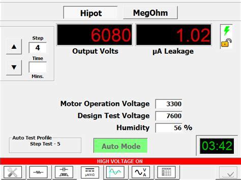 high voltage test leakage current hi pot test dc hipot tester electrom instruments
