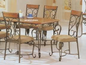 Wrought Iron Dining Chairs Wrought Iron And Wood Furniture Furniture Design Ideas