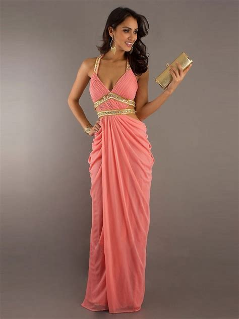 evening cocktail dresses sexy affordable v neck long chiffon prom formal evening