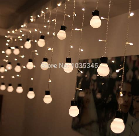 decorating backyard with lights novelty outdoor lighting 48beads with10 big size 5cm ball string led starry light rope