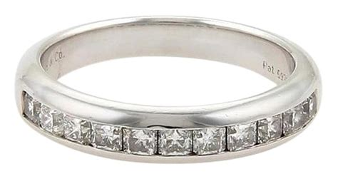 tiffany co platinum lucida diamonds half circle wedding