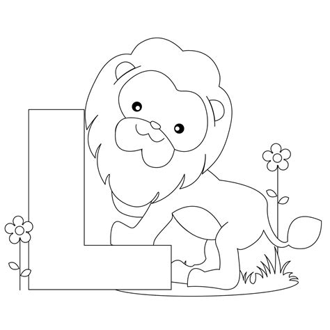 coloring pages animals alphabet animal alphabet letter l coloring child coloring
