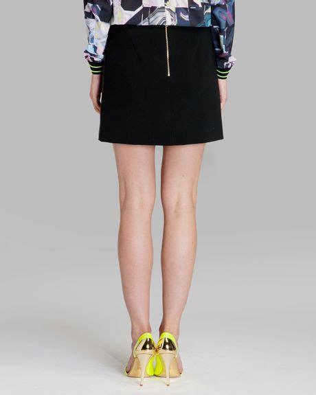 ted baker skirt austine leather mini in black lyst