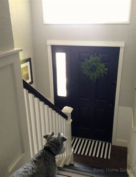 Fixer Foyer Ideas by Bi Level Entry Railings Keep Home Simple Our Split