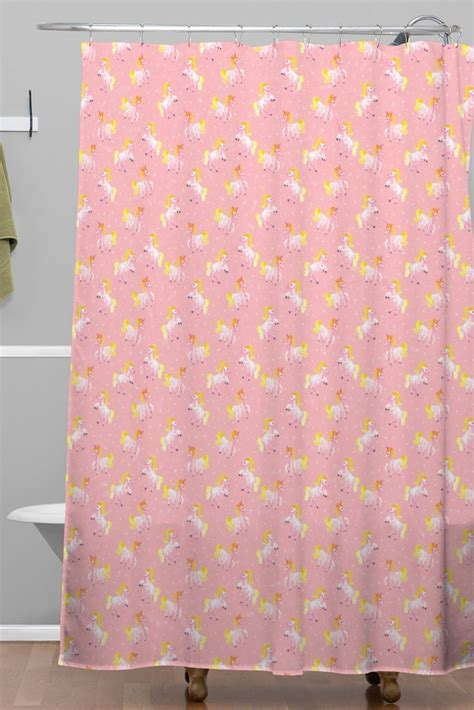 unicorn curtains magical unicorns woven shower curtain wonder forest