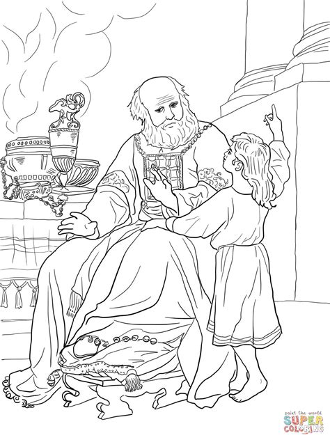 the call of samuel coloring page coloring pages