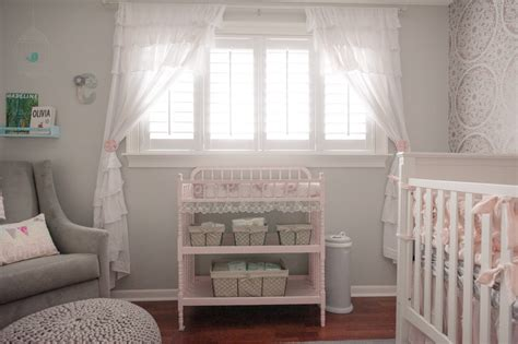 white ruffled curtains for nursery choosing your nursery window treatments interior design