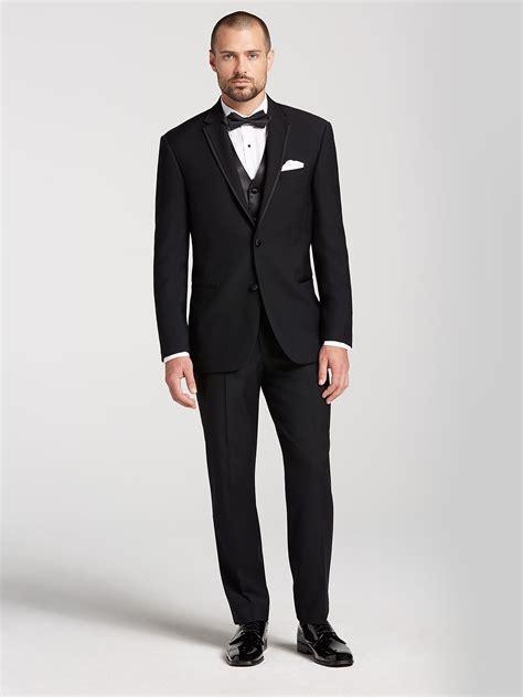 Ck Black classic black tux by calvin klein tuxedo rental s