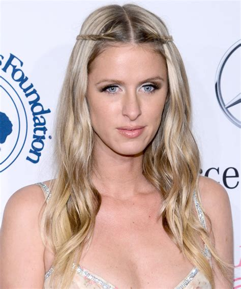 Nicky HIlton Long Straight Casual Braided Hairstyle