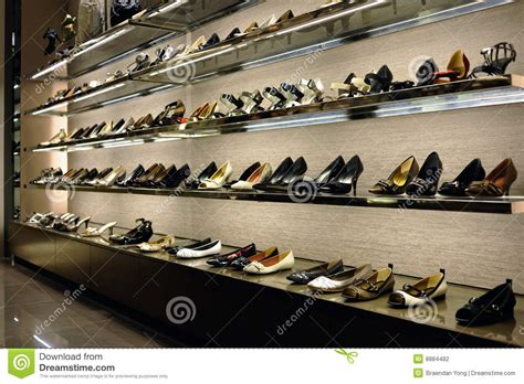 The Shoe Rack Outlet Rack Of Shoes Stock Photography Image 8884482